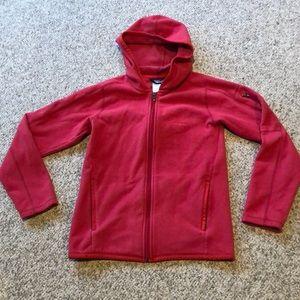 Patagonia burnt Red soft fleece hoodie jacket smal